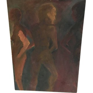 Vintage Abstract Nudes Painting