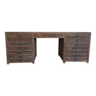 Restoration Hardware Antiqued Pine Printmaker's Desk
