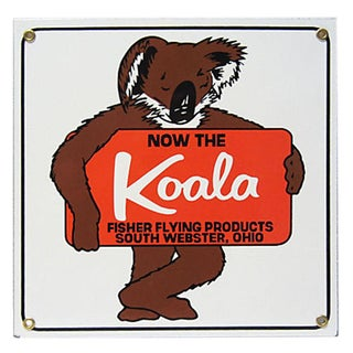 Koala Fisher Flying Products Sign