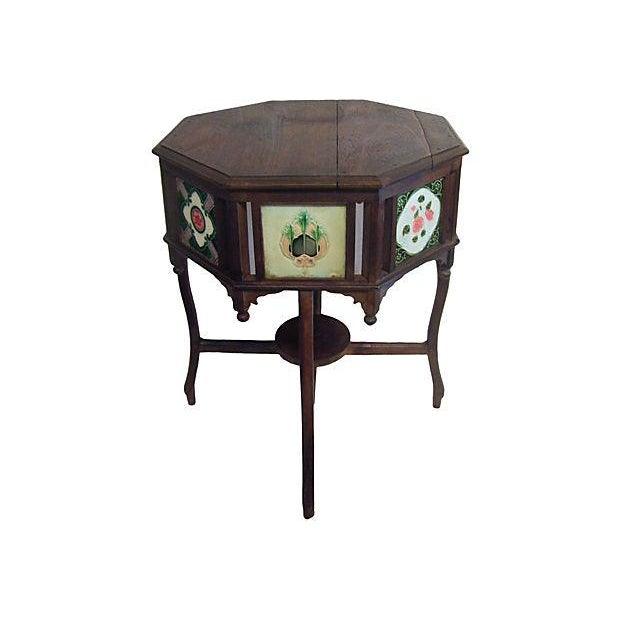 19th-Century Indian Tile Side Table - Image 1 of 4