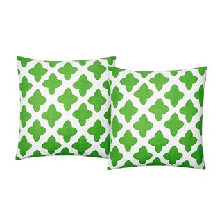 Dana Gibson Moda Pillow in Green - A Pair
