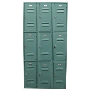 Antique Green Cubby Lockers