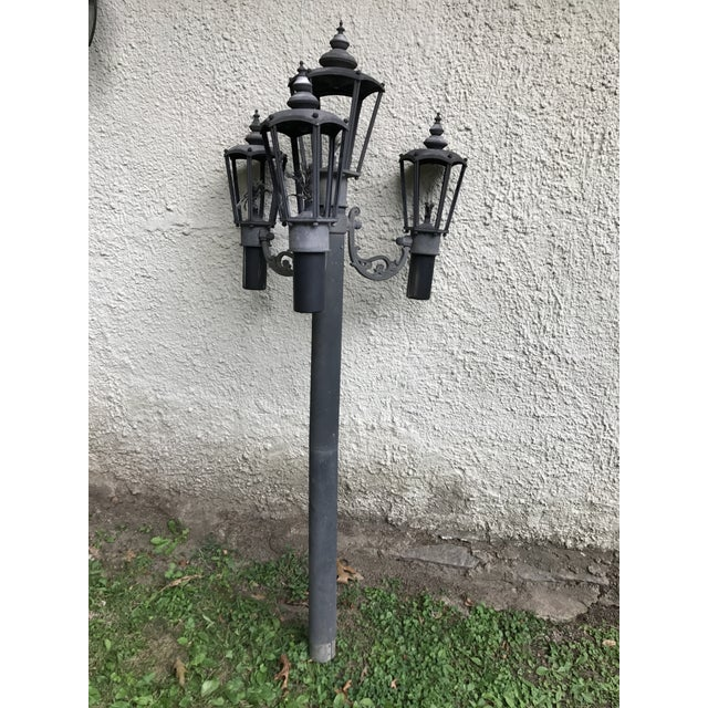 Outdoor Post Lights Ireland: Vintage Outdoor Lantern Light Post