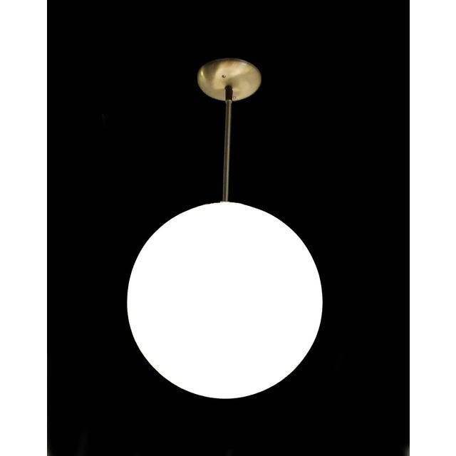 Image of Vintage Mid-Century Globe Pendant Light