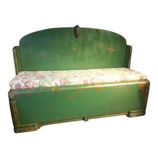 Custom Green Bed Frame Bench
