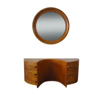 Heywood-Wakefield Vanity And Mirror