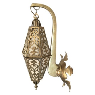 Hollywood Regency Brass Sconce Wall Light