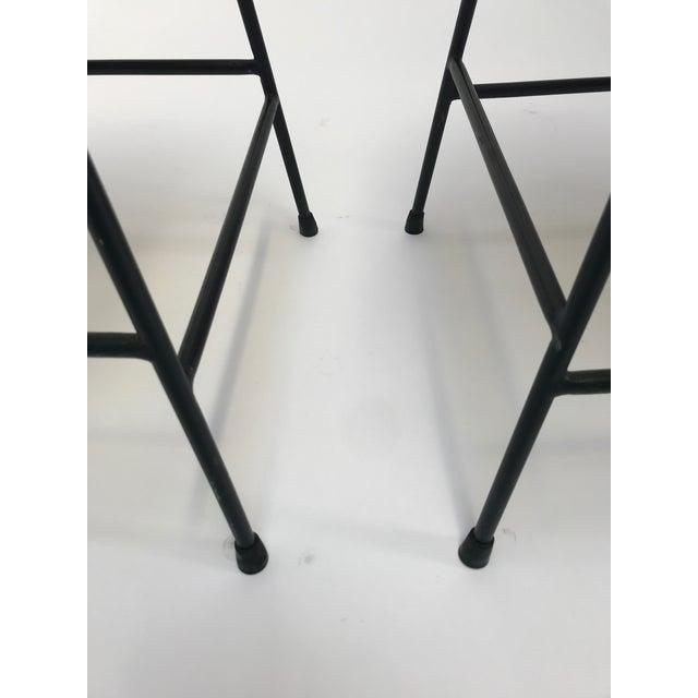 Vintage Arthur Umanoff metal frame counter stools - a Pair - Image 9 of 11