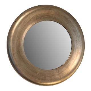 Gold Painted Round Mirror