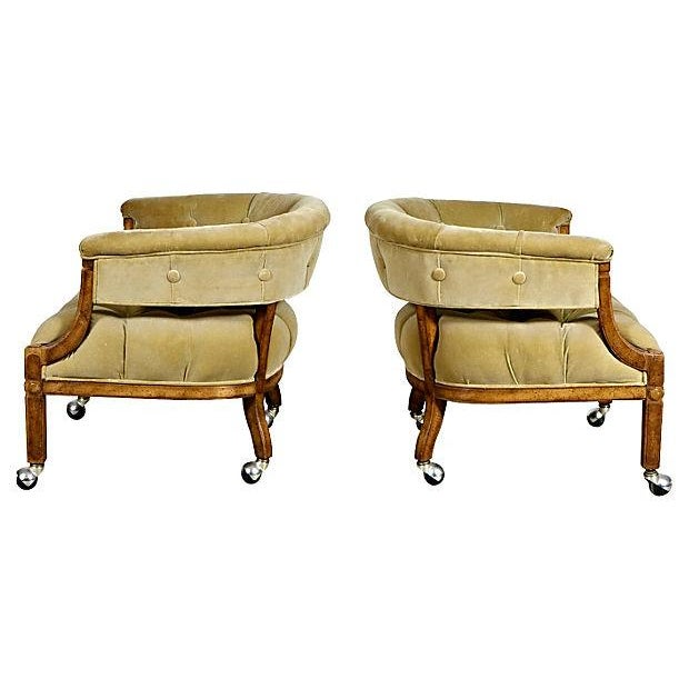 Image of 1960's Barrel-Shaped Lounge Chairs - Pair