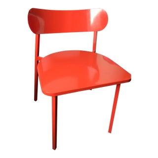 CB2 Fleet Orange Metal Chair