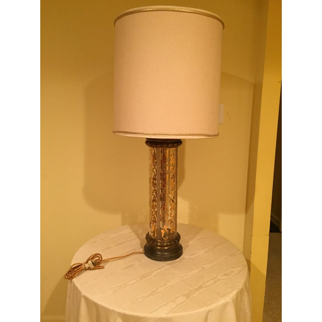 Vintage 1940's Glass Lamps - Pair - Image 3 of 4
