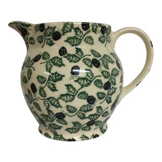 Vintage Bridgewater Ceramic Holly Berry Pitcher