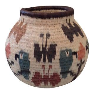 Figurative-Style Woven Wounaan Basket