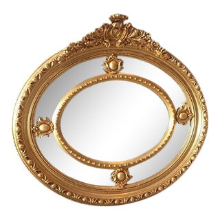 French Style Oval Wall Mirror