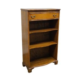 Vintage 1940s Small Mahogany Open Bookcase