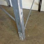 Image of Machine Age Galvanized Industrial Work Table