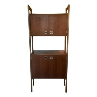 Mid Century Mod Wall Unit With LP Record Cabinet And Bar