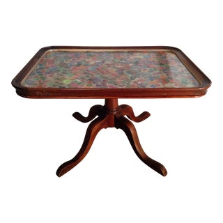WWII Decorated Tea Tray Table