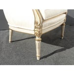 Image of White Accent Louis XVI Style Arm Chair