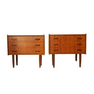 Danish Teak Nightstands - A Pair