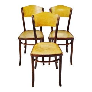 Vintage 1920's Fischel Bentwood Cafe Chairs - Set of 3