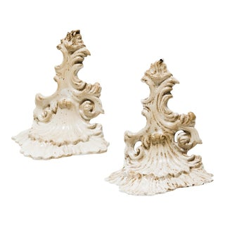 Vintage Italian Porcelain Wall Shelves- A Pair
