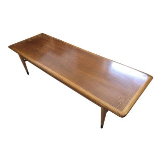 Mid Century Modern Walnut Coffee & Side Table Set by Andre Bus for Altavista Lane