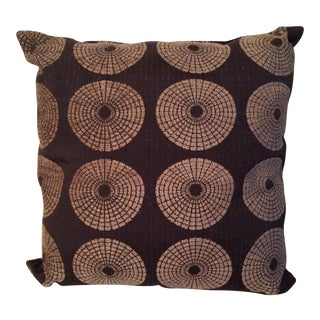 Brown Chenille Down Pillow