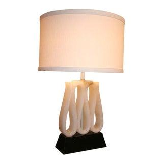 1940's Alabaster Ribbon Lamp