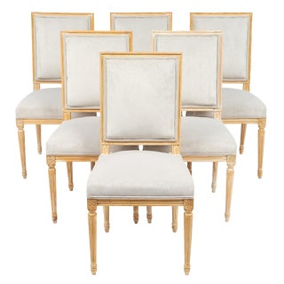 Antique French Louis XVI Style Chairs- Set of 6