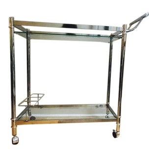 Ellery Classic Bar Cart, Stainless Steel