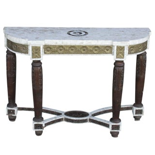 Anglo Indian Checkered Console