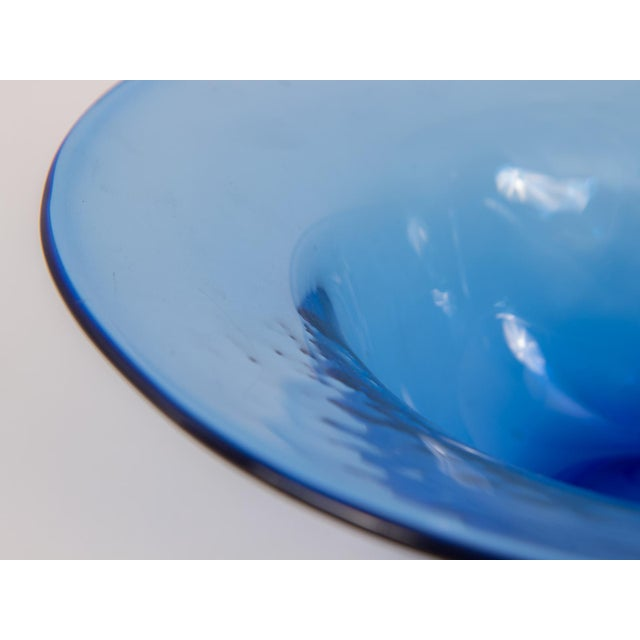 Dimpled Blenko Glass Bowl - Image 7 of 9
