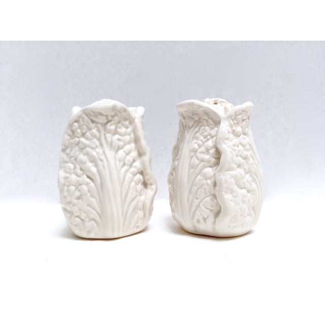 Fitz & Floyd White Cabbage Shakers - A Pair - Image 2 of 8
