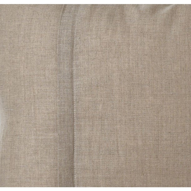 Image of Large Graphite on Beige Silk Ikat Pillow