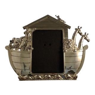 Silver Plated Noah's Ark Photo Frame