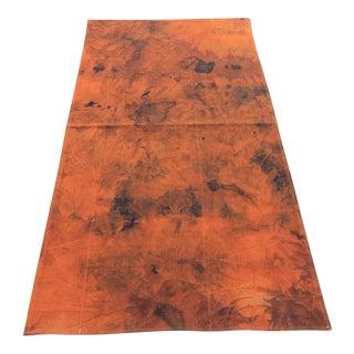 Vintage Turkish Tie Dyed Oushak Curtain Kilim Rug- 2′11″ × 5′11″