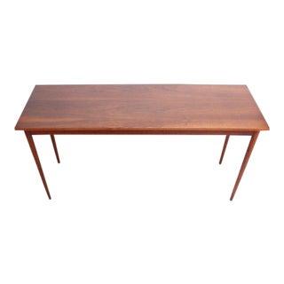 Mid-Century American Modern Walnut Console Table