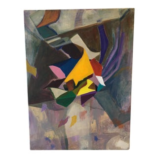 Modernist Abstract Painting on Canvas