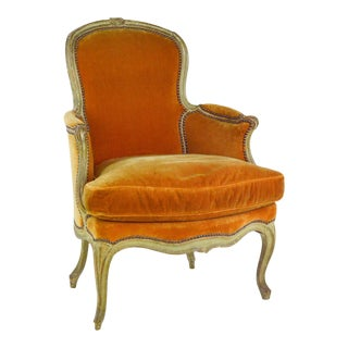 19th Century French Louis XV Style Bergere Chair