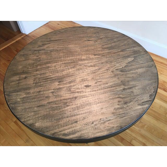 Magnussen Walton Iron & Wood Pedestal Table - Image 3 of 7