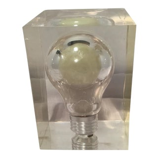 Vintage Lucite Light Bulb Nightlight