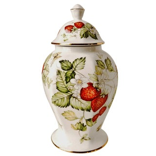 Bone China English Biscuit Jar