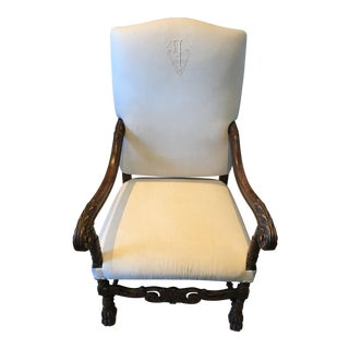 Antique French Linen Chair