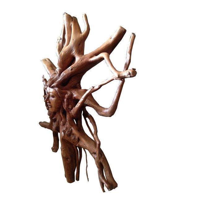 Hand-Carved Root Sculpture - Image 3 of 6