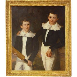 """Sons of Lord Sheeton"" / Eton Schoolboys with Cricket Bat and Ball"