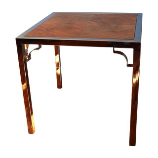 Chrome & Wood Game Table