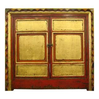 Red & Gold Tibetan Cabinet