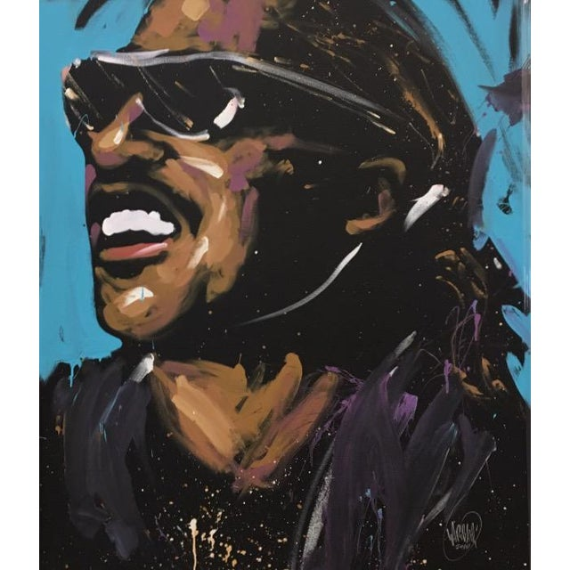 Stevie Wonder Original Painting by David Garibaldi - Image 3 of 4